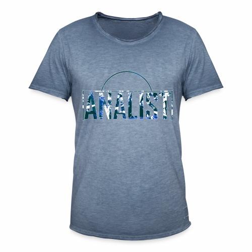 ANALIST - Mannen Vintage T-shirt