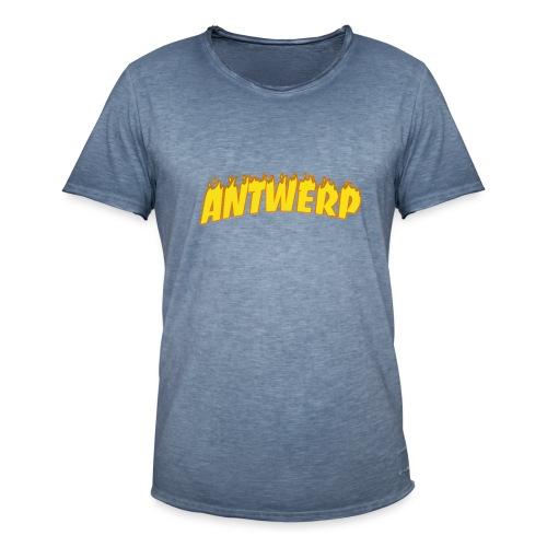Antwerp T-Shirt Black (Flame logo) - Mannen Vintage T-shirt