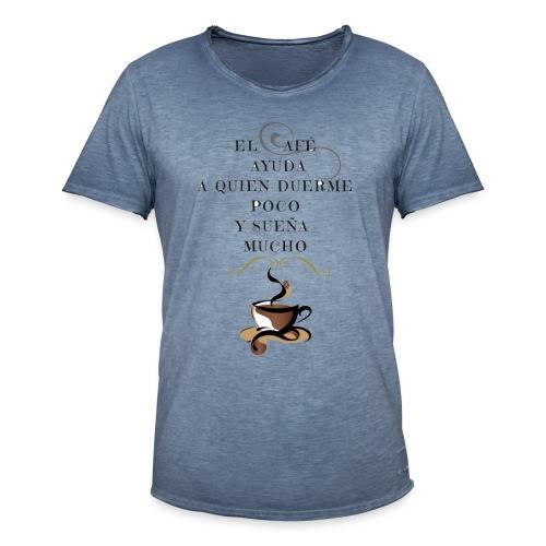 CAFÉ DEL DÍA - Camiseta vintage hombre