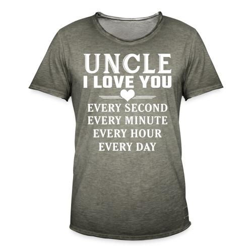 I Love You Uncle - Men's Vintage T-Shirt