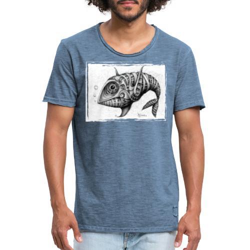 Pesce & Fish - Maglietta vintage da uomo