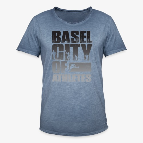 Basel City of Athletes B/W - Männer Vintage T-Shirt