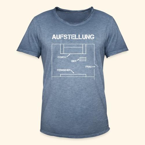 Fussball Aufstellung Weltmeisterschaft Geschenk - Männer Vintage T-Shirt
