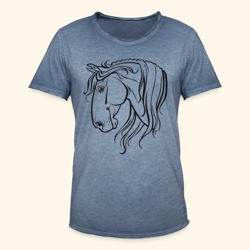 Cheval espagnol (noir) - T-shirt vintage Homme