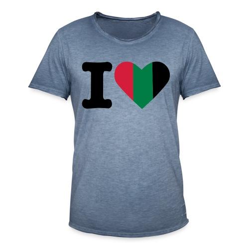 hartjeroodzwartgroen - Mannen Vintage T-shirt
