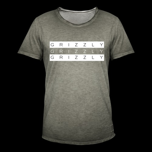 Grizzly X - Camiseta vintage hombre
