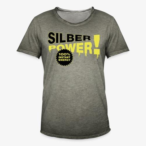 SilberPower! - Herre vintage T-shirt