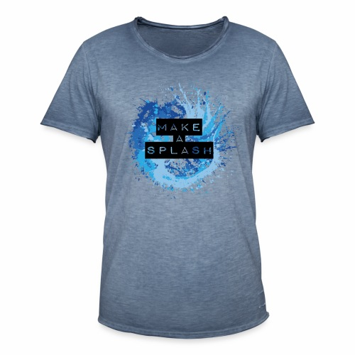 Make a Splash - Aquarell Design in Blau - Männer Vintage T-Shirt