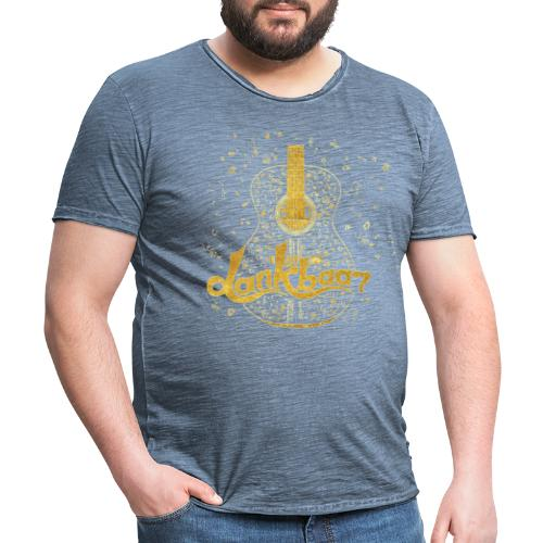 Dankbaar Gitaar Goud - Mannen Vintage T-shirt