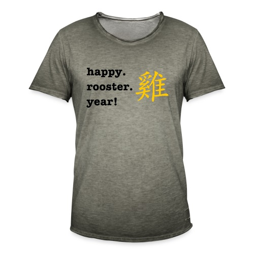 happy rooster year - Men's Vintage T-Shirt