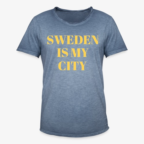 Sverige är min stad - Vintage-T-shirt herr