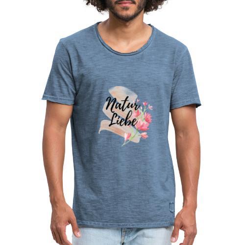 Natur Liebe Logo Pastell - Männer Vintage T-Shirt