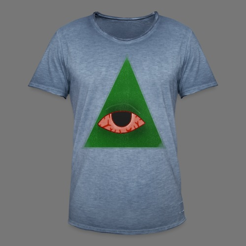 illuminati eye - Camiseta vintage hombre