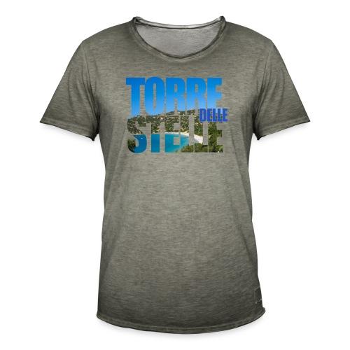 TorreTshirt - Maglietta vintage da uomo