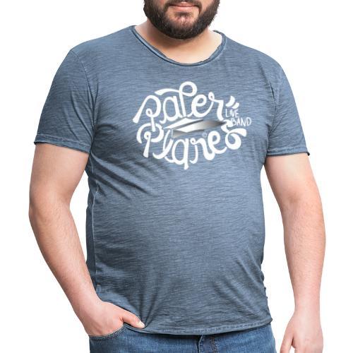 Paper Planes Logo Wit - Mannen Vintage T-shirt
