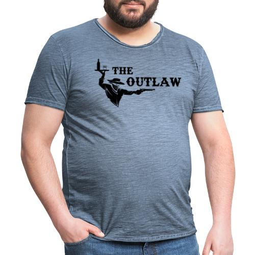 outlaw saloon - T-shirt vintage Homme