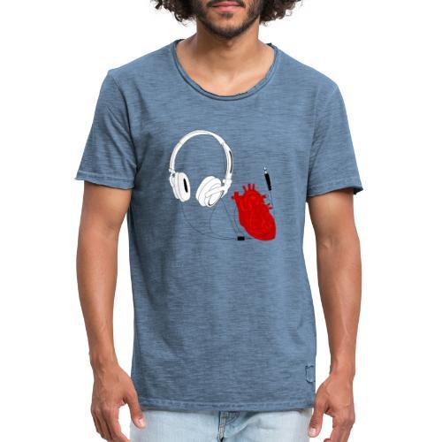 Heart beat. - Koszulka męska vintage