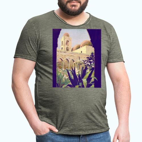 Palermo Vintage Travel Poster - Men's Vintage T-Shirt