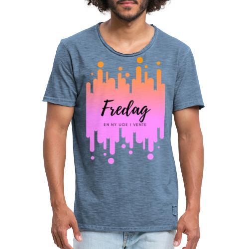 fredag ny uge i vente - Herre vintage T-shirt