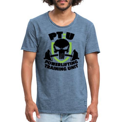 PT:U Powerlifting Training Unit - Men's Vintage T-Shirt