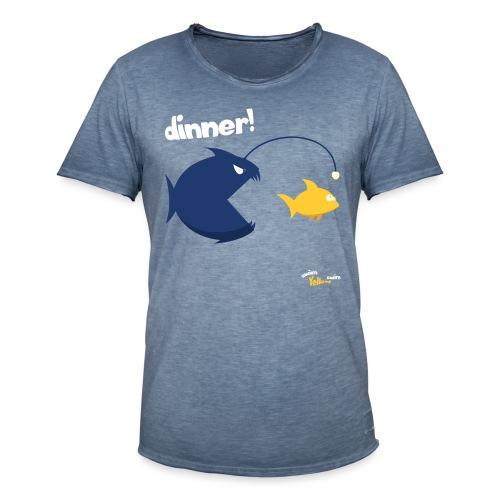 Dinner - Mannen Vintage T-shirt