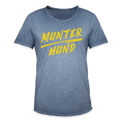 Munter Hund Logo Red - Männer Vintage T-Shirt