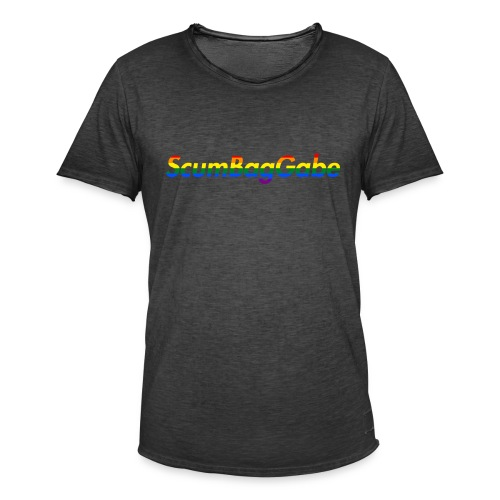ScumBagGabe Multi Logo XL - Men's Vintage T-Shirt