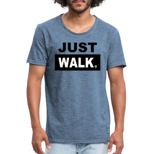 JUST WALK mannen zw - Mannen Vintage T-shirt