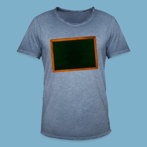 Schul Tafel - Männer Vintage T-Shirt