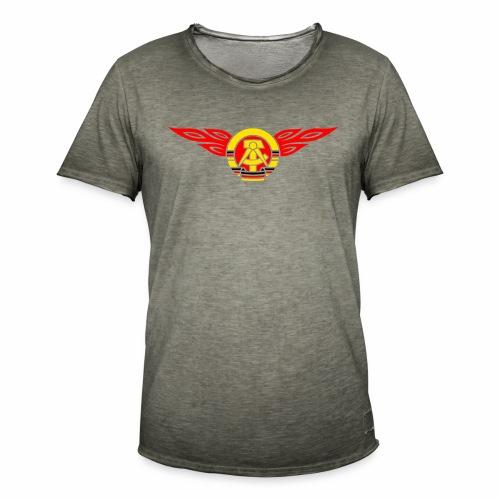 GDR flames crest 3c - Men's Vintage T-Shirt
