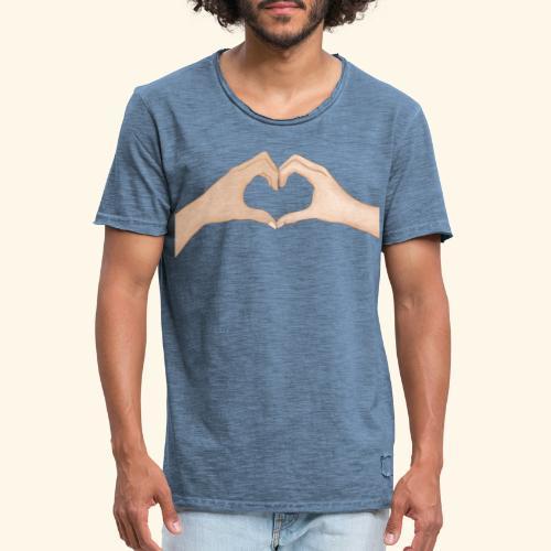 Mains Coeur Amour - Love hands - T-shirt vintage Homme