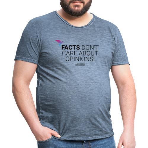 Facts vs. Opinions - Männer Vintage T-Shirt