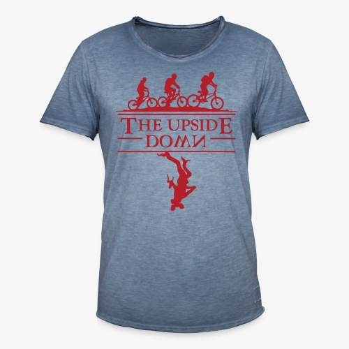 upside down - Koszulka męska vintage