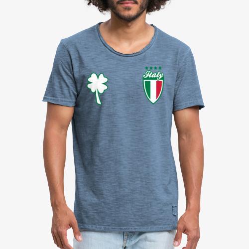 Italia Scudo e trifoglio - Maglietta vintage da uomo