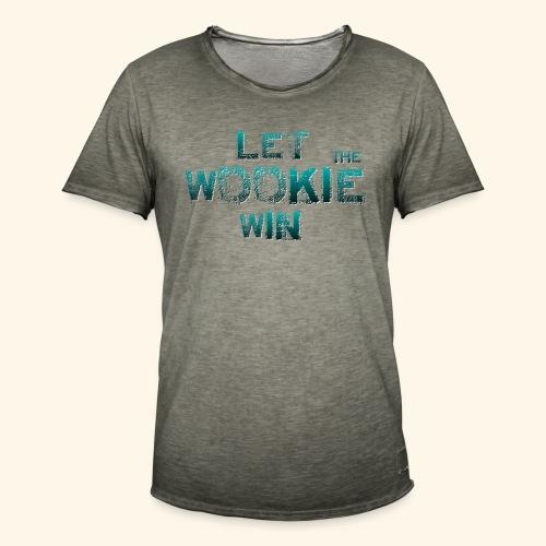 Let The Wookie Win, design 2. - Herre vintage T-shirt