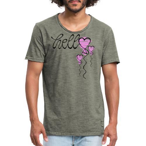 Hello Herzballon - Männer Vintage T-Shirt