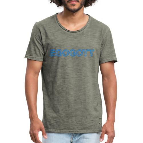 Egogott Neon - Männer Vintage T-Shirt