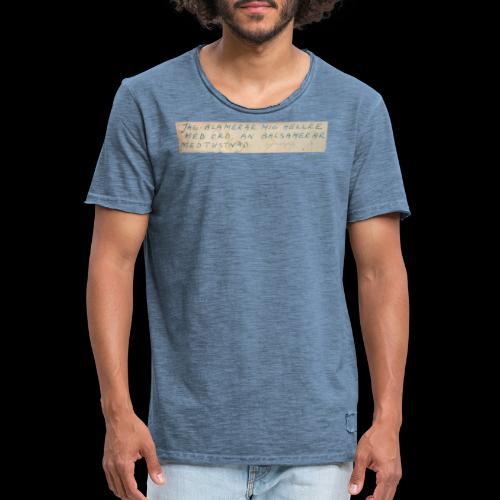 Werner-Aspenström-citat - Vintage-T-shirt herr