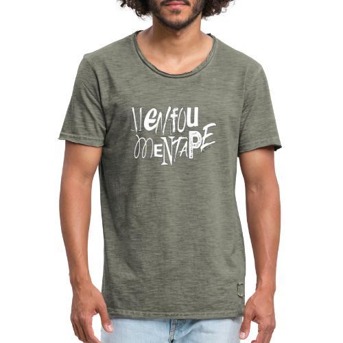 MENFOUMENTAPE blanc et noir by Alice Kara - T-shirt vintage Homme