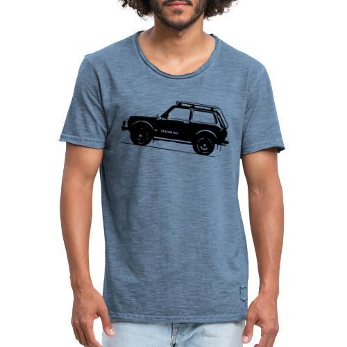 Lada Niva 2121 Russin 4x4 - Männer Vintage T-Shirt