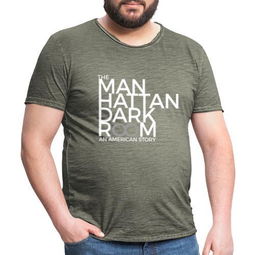THE MANHATTAN DARKROOM BLANC GRIS - T-shirt vintage Homme