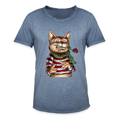 T-shirt - Crazy Cat - T-shirt vintage Homme