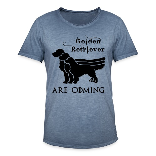 Golden Retriever are coming - Männer Vintage T-Shirt