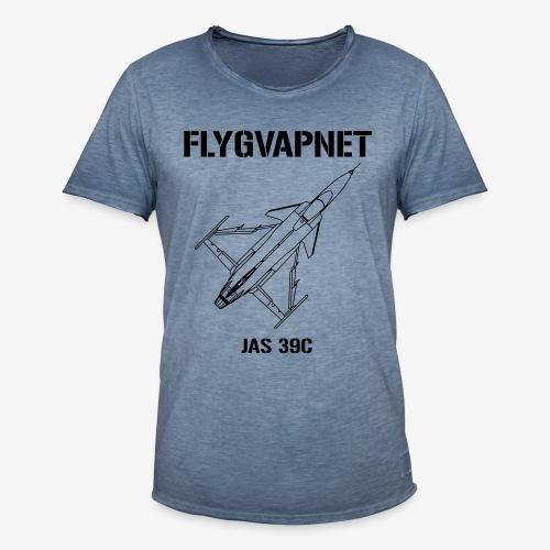 Flygvapnet JAS 39C - Vintage-T-shirt herr