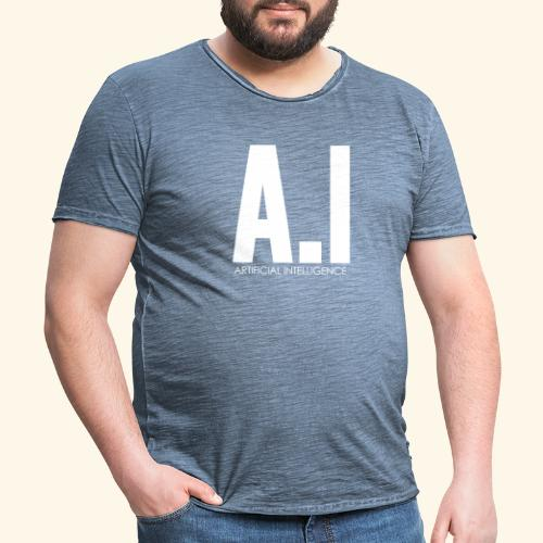 AI Artificial Intelligence Machine Learning - Maglietta vintage da uomo