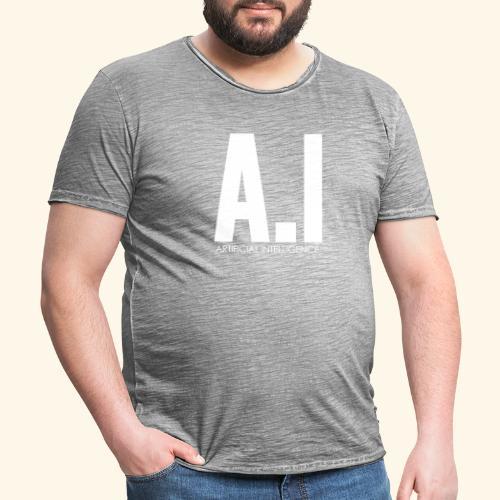 AI Artificial Intelligence Machine Learning - Maglietta vintage da uomo