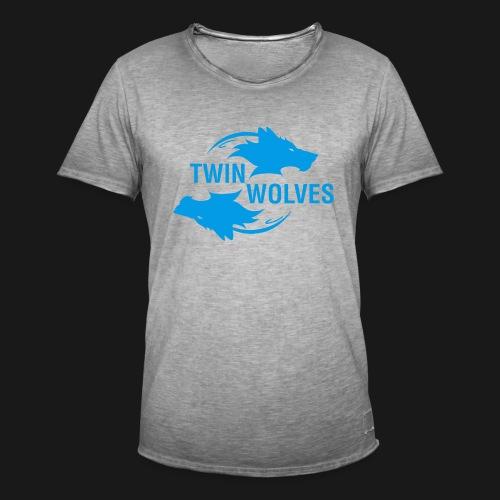 Twin Wolves Studio - Maglietta vintage da uomo