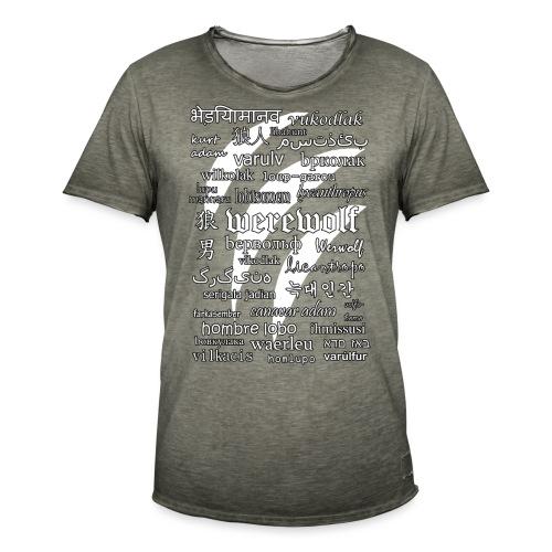 Werewolf in 33 Languages (Black Ver.) - Men's Vintage T-Shirt