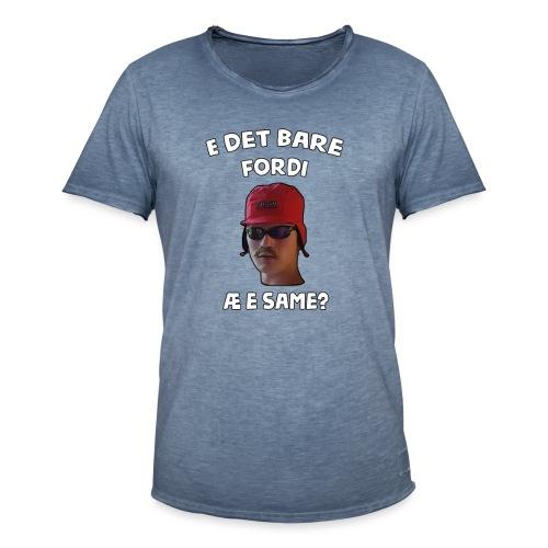 Sameskjorta - Vintage-T-skjorte for menn