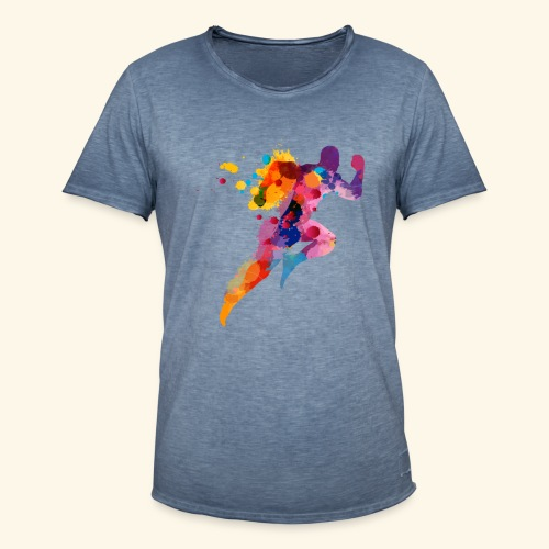 Running colores - Camiseta vintage hombre